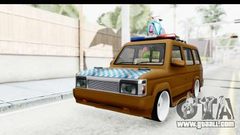 Toyota Kijang Grand Extra with Bike for GTA San Andreas right view