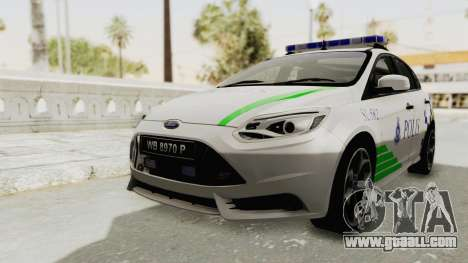 Ford Focus ST 2013 PDRM for GTA San Andreas right view