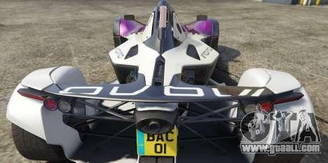 GTA 5 BAC Mono rear left side view