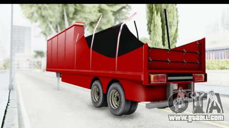 Renault Magnum TopGear Trailer for GTA San Andreas back left view