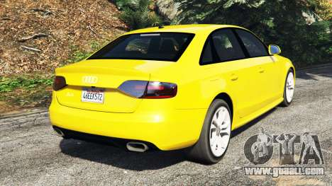 GTA 5 Audi A4 2009 rear left side view