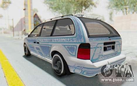 GTA 5 Vapid Minivan Custom without Hydro for GTA San Andreas upper view