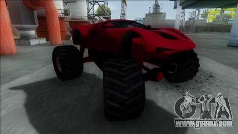 GTA V Vapid FMJ Monster Truck for GTA San Andreas left view