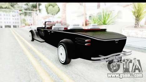 Unique V16 Phaeton VIP for GTA San Andreas back left view