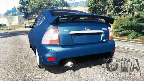 GTA 5 Lada Priora Sport Coupe v0.1 rear left side view