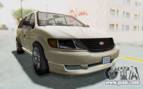 GTA 5 Vapid Minivan IVF for GTA San Andreas