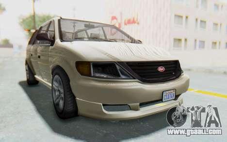 GTA 5 Vapid Minivan IVF for GTA San Andreas