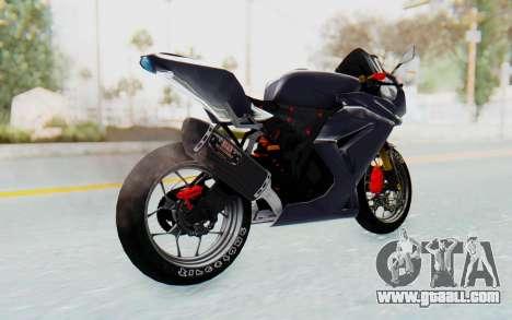 Kawasaki Ninja 250R Streetrace v2 for GTA San Andreas left view