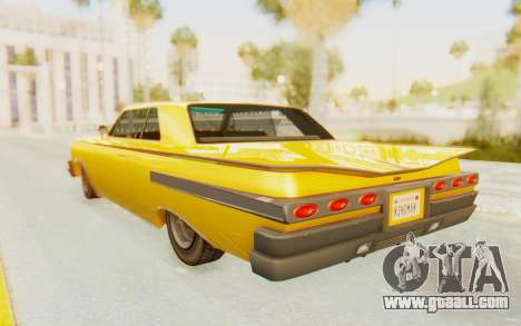 GTA 5 Declasse Voodoo PJ SA Lights for GTA San Andreas left view