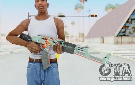 CS:GO - AK-47 Aquamarine Revenge for GTA San Andreas third screenshot