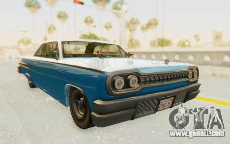 GTA 5 Declasse Voodoo PJ for GTA San Andreas right view