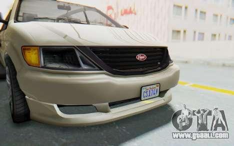 GTA 5 Vapid Minivan IVF for GTA San Andreas side view