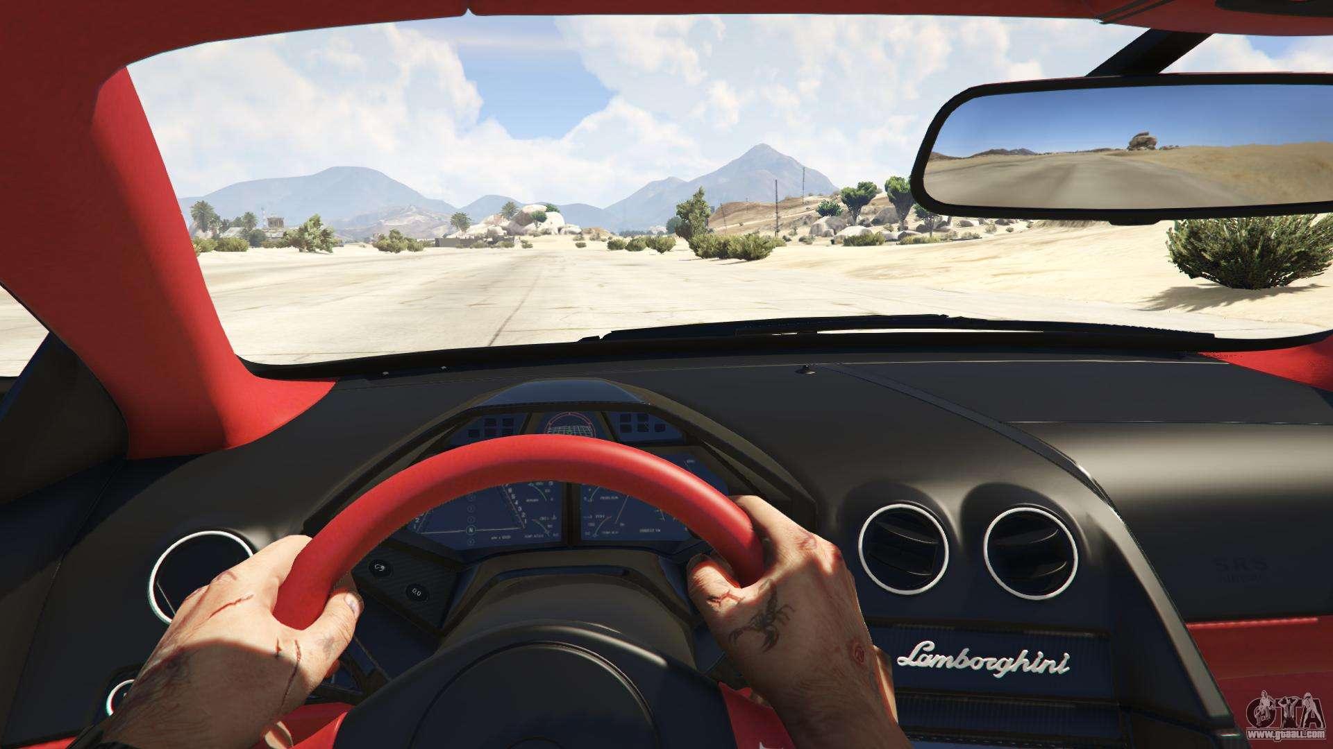 GTA 5 Lamborghini Reventon 7.1 Back View