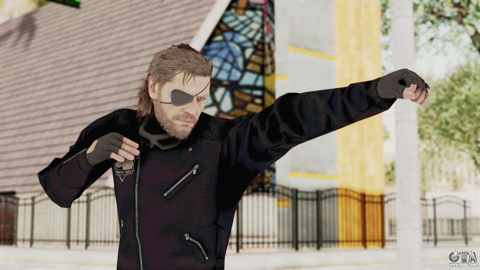 Mgsv Phantom Pain Big Boss Leather Jacket For Gta San Andreas