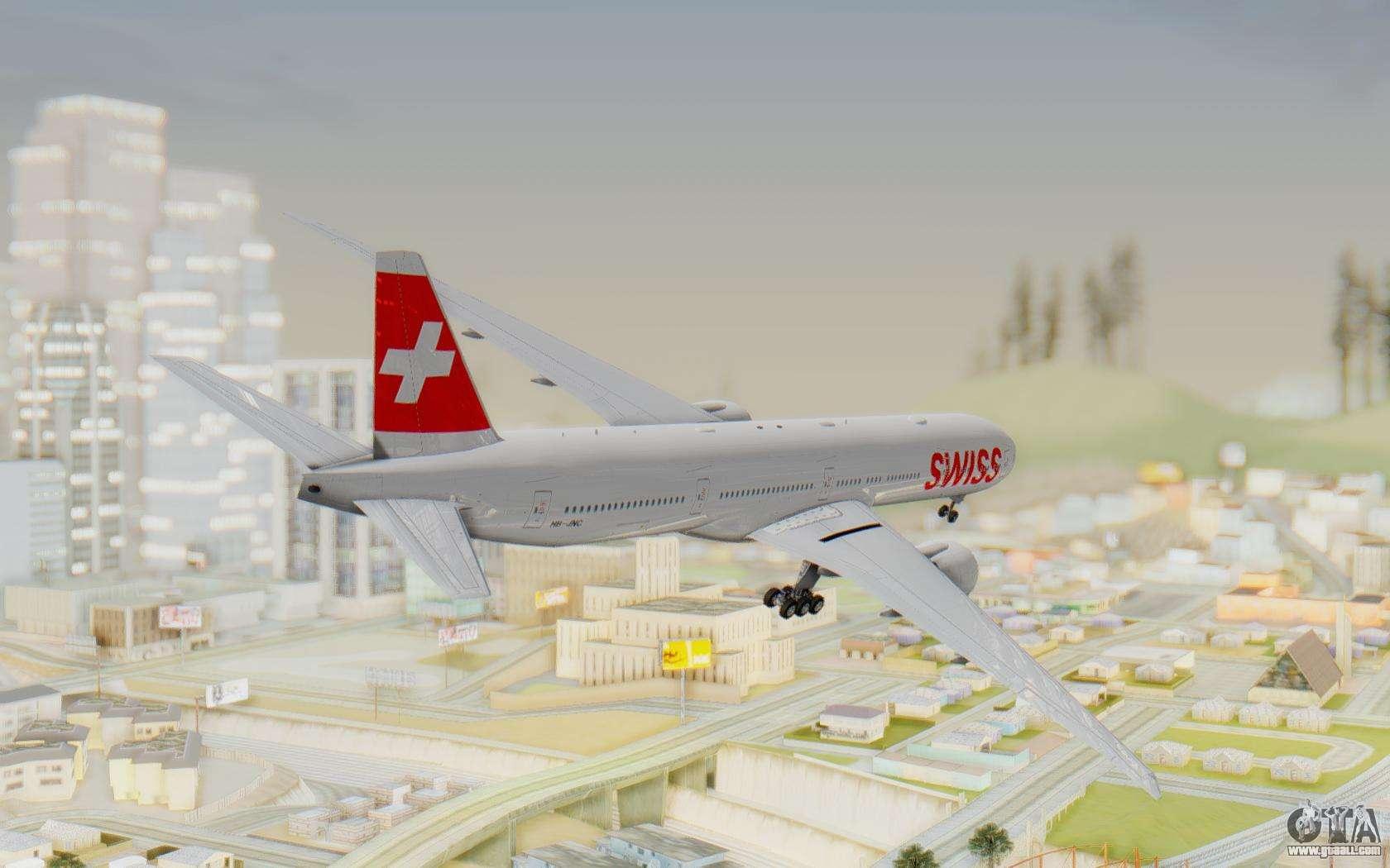 boeing 777 300er swiss global air lines for gta san andreas. Black Bedroom Furniture Sets. Home Design Ideas