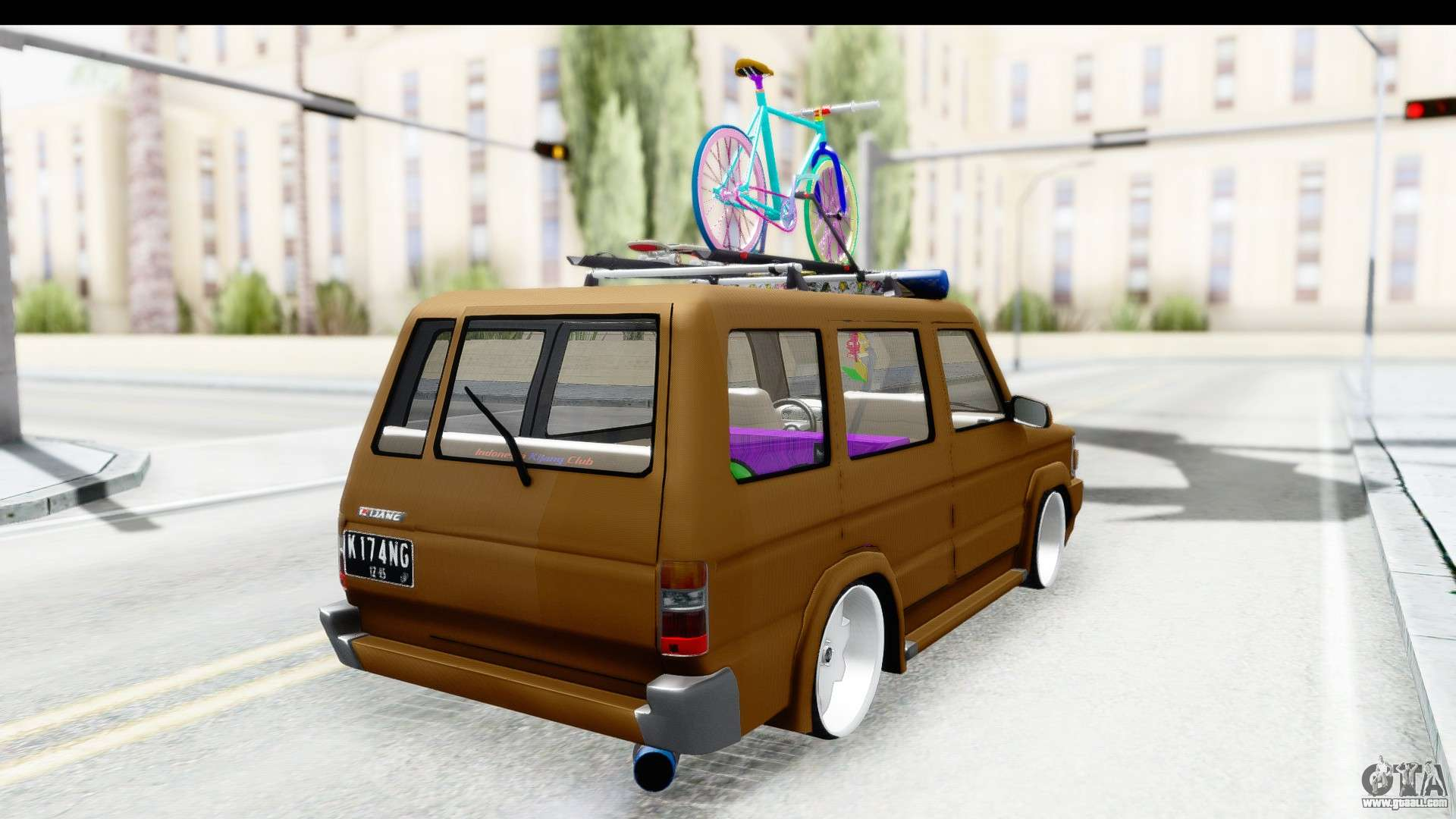 Toyota kijang grand extra image - Toyota Kijang Grand Extra With Bike For Gta San Andreas Left View