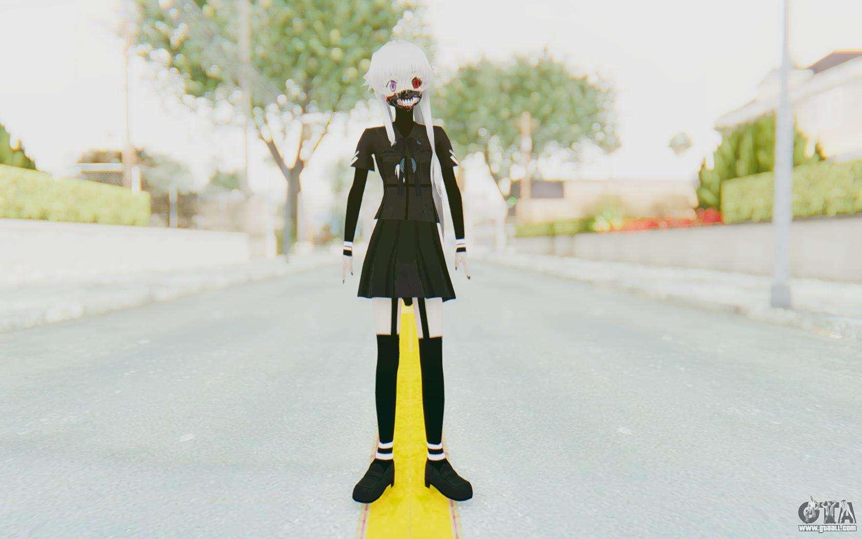Gasai Yuno Ghoul For GTA San Andreas Second Screenshot
