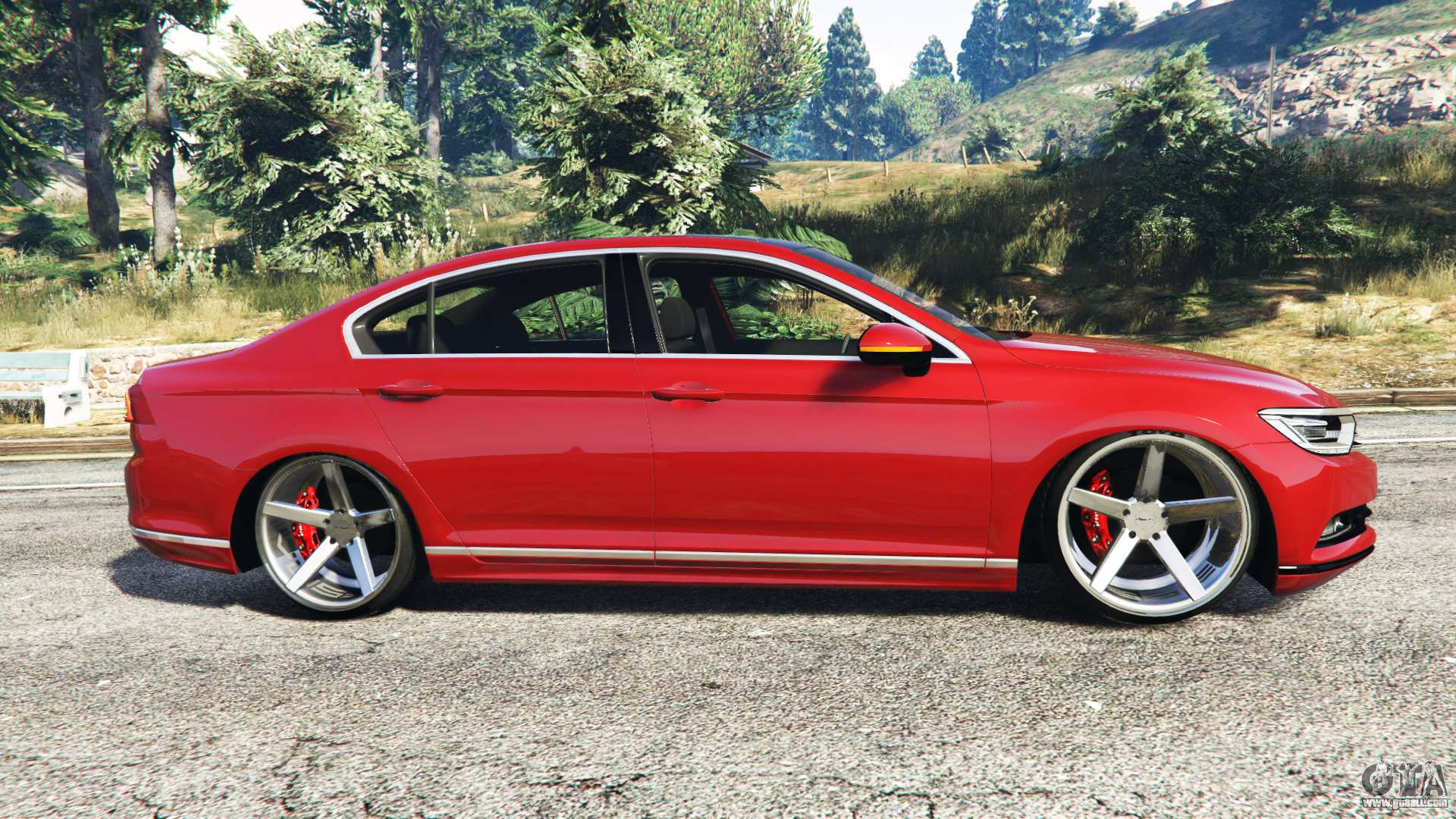 volkswagen passat highline b8 2016 stanced for gta 5. Black Bedroom Furniture Sets. Home Design Ideas