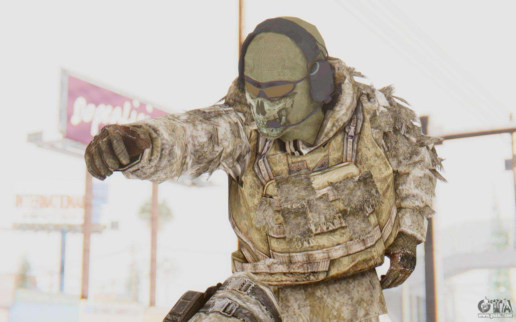 Cod Mw2 Ghost Sniper Desert Camo For Gta San Andreas