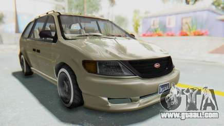 GTA 5 Vapid Minivan Custom without Hydro IVF for GTA San Andreas