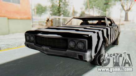 White Zebra Sabre Turbo for GTA San Andreas