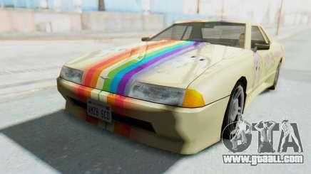 Elegy MLP Fluttershy PJ for GTA San Andreas