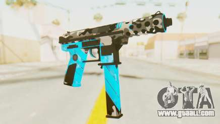 Tec-9 Neural Blue for GTA San Andreas