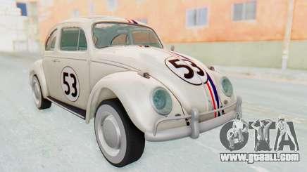 Volkswagen Beetle 1200 Type 1 1963 Herbie for GTA San Andreas