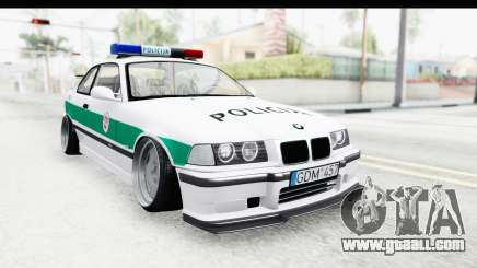 BMW M3 E36 Stance Lithuanian Police for GTA San Andreas