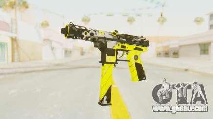 Tec-9 Neural Yellow for GTA San Andreas