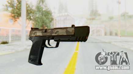 HK USP 45 Army for GTA San Andreas