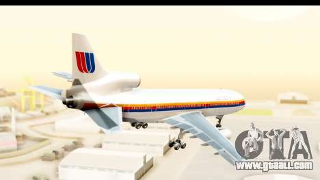 Lockheed L-1011-100 TriStar United Airlines for GTA San Andreas right view