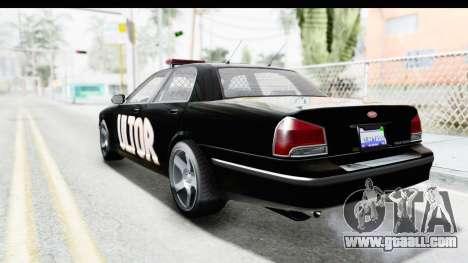 Vapid ULTOR Police Cruiser for GTA San Andreas left view