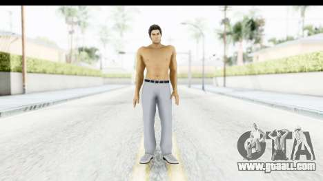 Yakuza 5 Kazuma Kiryu Topless Tatoo for GTA San Andreas second screenshot
