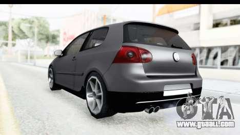 Volkswagen Golf 5 Stock for GTA San Andreas left view
