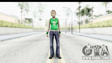 Silent Hill 3 - Heather Sporty Green Get A Life for GTA San Andreas second screenshot