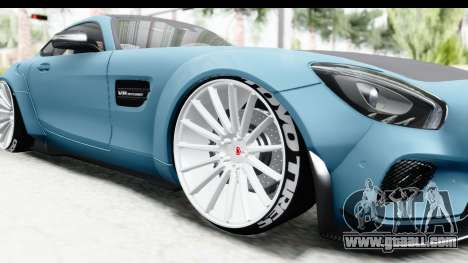 Mercedes-Benz AMG GT Prior Design for GTA San Andreas back view