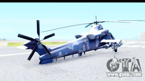 Denel AH-2 Rooivalk Blue for GTA San Andreas left view