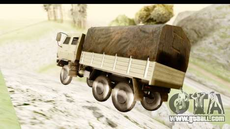 Dongfeng SX Military Truck for GTA San Andreas right view