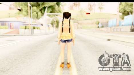 DoA 5 - Pai Chan Casual for GTA San Andreas third screenshot