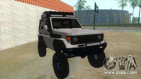 Toyota Machito Semi Off Road for GTA San Andreas back view