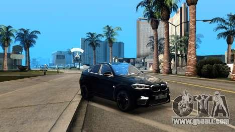 BMW X6M Bulkin Edition for GTA San Andreas inner view