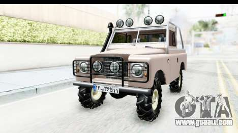 Land Rover Pickup Series3 for GTA San Andreas right view