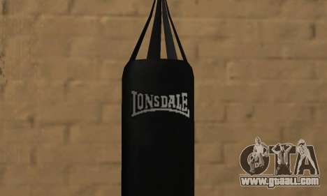 LonsDale punching bag for GTA San Andreas second screenshot