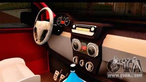 Fiat Fiorino v2 for GTA San Andreas inner view