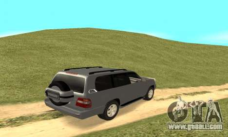 Toyota Land Cruiser 100 for GTA San Andreas back view