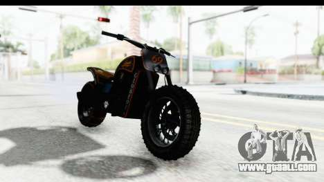 GTA 5 Western Gargoyle Custom v1 for GTA San Andreas back left view