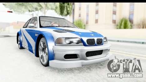 NFS: MW - BMW M3 GTR for GTA San Andreas
