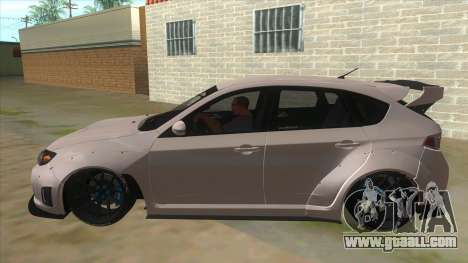 2008 Subaru WRX Widebody L3D for GTA San Andreas left view