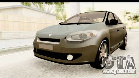 Renault Fluence v2 for GTA San Andreas right view